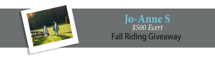 Statelinetack.com's Fall Riding Giveaway Winner