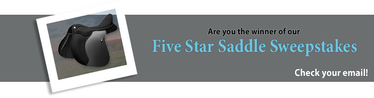 Statelinetack.com's Five Star Saddle Sweepstakes Winner