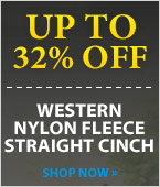 Western Nylon Fleece Straight Cinch!