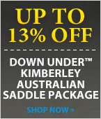 Down Under Kimberley Australian Saddle Package!