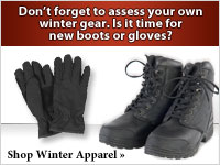 Don't forget to check your winter gear. Is it time for new gloves or boots?